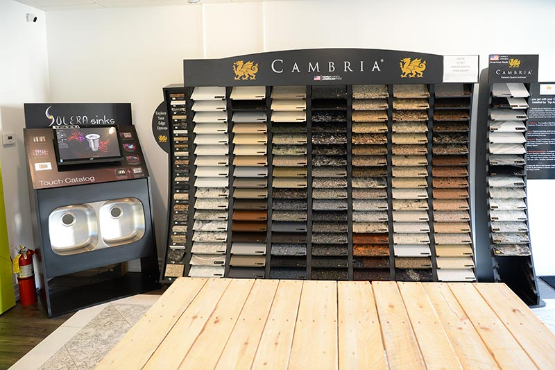 Cambria Quartz Countertop Showroom for Pittsburgh Customers